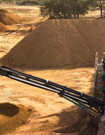Madden Materials Tractor in Soil Quarry